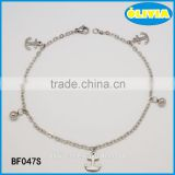 Olivia Jewelry Charms Bracelet Stainless Steel Anchor Charms Bracelet For Men And Women