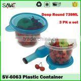 Acrylic kitchen household items kids food storage box sealed fresh fruit plastic container with clear lid