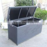 Rattan storage box bench, outdoor use toy storage box , wicker box storage bench outdoor furniture