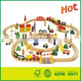 100pcs Wooden Railway Train Track Set toy train