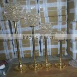 2016 hot sale crystal ball pillar candle holder / home goods crystal candle holder / floor standing crystal candle holder