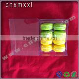 8 pcs macaron clear printed box with PET inner trays food industrial use and grade plastic type 5 macaron
