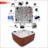2015 Best selling freestanding SPA powerful jets 5 person capacity best sex hot tub spa bath