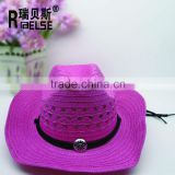 wholesale paper straw cowboy hat beach fashion hat