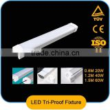 2*10w t8 0.6m led tri-proof light,105lm/w ,lighting fixture,IP65 IK10,CE ,Rohs,Erp,led tube light