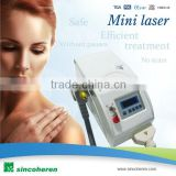 Portable Q switched 1064 / 532 nm/skin rejuvenation head laser for eyeline/eyebrowing tattoos removal with instant results