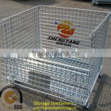 New removable galvanized steel transport cages saving space collapsible cages factory used heavy duty metal storage containers