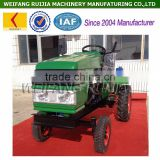 China new made 4 wheels 12hp mini tractor, water cooled 15hp mini tractor with tiller for sale !