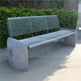 Metal garden bench concrete outdoor stone bench