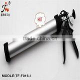 Good sale HANGZHOU TF-F016-I 600ml manual AluminiumTube Sa usage Caulking Gun with on nozzle