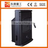 Factory direct selling indoor wood stove/wood stoves with water boiler and door with galss