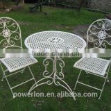 Folding wrought iron garden furniture 3/S bistro set