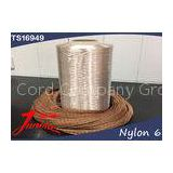 1000D / 2  Polyester Tire Cord Fabric  , HMLS Polyester Brown Dipping for Passenger Car Tyres