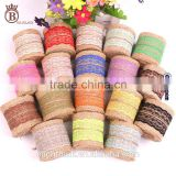 DIY Chair Cake Jute Ribbon Christmas Wedding Decoration Linen Lace Roll