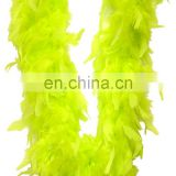 luxury florescent yellow ostrich feather boa