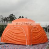 full covered orange inflatable spider tent