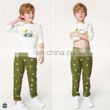 T-BP005 Cute Boys Autumn Printed Elegant High Waist Pants