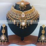 INDIAN FASHION BOLLYWOOD DESIGNER BRIDAL WHOLESALE JEWELRY NECKLACE EARRING SET