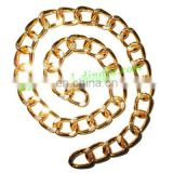 Gold Plated Metal Chain, size: 2x11mm, approx 6.9 meters in a Kg.