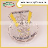 Kunshan promotional gold/ silver plated military challenge custom wholesale silver gift coin