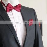men's tied bow tie with pocket squares