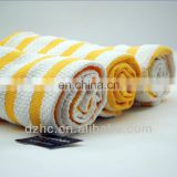 100%cotton stripe cleaning cloth super absorbent