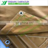 Tear resistance Waterproof tan polyester canvas tarpaulin