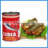 425g good canned sardines/mackerel/tuna fish/canned fish/fish canned from Fujian