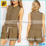 Wholesale High Quality New Fashion Hot Women Ladies Spell Color Romper Jumpsuits