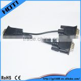 1 male to 2 female vga splitter cable for monitor