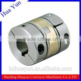 Double slider coupling for belt conveyorsystem