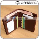high quality cow leather men's bifold wallet small wallet card holder wallet