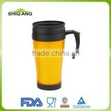 hot selling 14oz plastic travel mug with sliding opening cover BL-5069