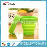 Multifunctional portable and eco-friendly collapsible silicone folding mug cup for wholesales