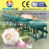 Smaller type garlic root cutting/farm use efficiency garlic top and stem cutter removal machine