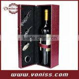 wine leather box bag, champagne leather bottle holder,single bottle tote,High-grade diamond pattern leather gift box