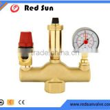 HR6110 factory manufacture brass water heating system safety pressure air vent sets valve