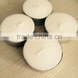 Large white tealight candle with aluminum cup
