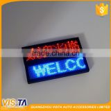 USB Charging Wireless Mini Display Car LED Table Board Car LED Digital Display Board Red Blue Green Digital LED Badge