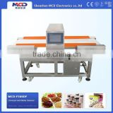MCD-F500QF Checking Steel Pin Metal Chips Conveyor Food Metal Detector For Food Processing Industry
