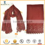 new solid color modal blending lace scarf