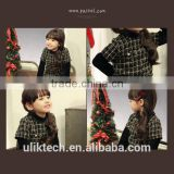 wholesale children clothing 2015 fancy dress for girls retro dress beautiful plaid dress for girls casual girls dress
