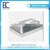 square decorative cover steel pipe base plate