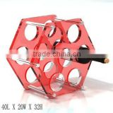 GH-RZ258 Shenzhen Guihe factory direct sale cheap acrylic wine display rack wholesale bottle rack / holder