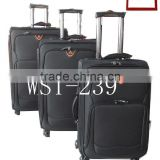Aluminum telescopic suitcase handles 4 spinner wheels uptight 3 pcs trolley luggage set