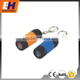 Hot Sell 1 LED Keychain with Flashlight, Powered by 4xLR44 Cell Battery, Suitable for Promotion, Rotating Switch