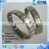 Cheap Golden Side Balance Wristband Germanium Energy Bracelet Power Energy Bracelet with Germanium Stones