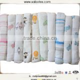 Eco Friendly printed cotton muslin baby blanket                                                                         Quality Choice
