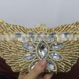 ladies designer handbags clutch wedding handbag beaded stone clutch bag purse in butterfly shape