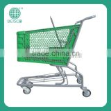 American style,165L plastic shopping cart for supermarket